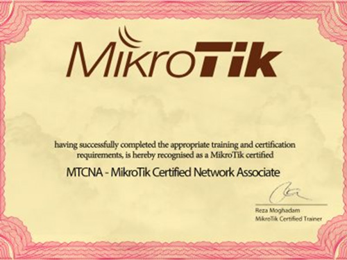 گواهینامه معتبر دوره MTCNA